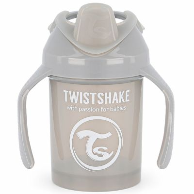 Tasse d'apprentissage gris pastel (230 ml)  par Twistshake