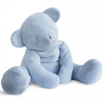 Peluche géante ours bleu (70 cm) Doudou et Compagnie