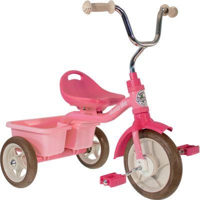 Tricycle Transporter avec panier arrière rose  par Italtrike