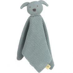 Doudou plat tricoté en coton bio Little Chums chien