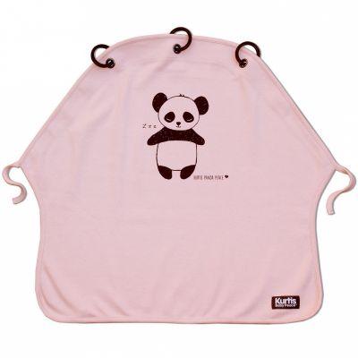 Protection pour poussette Baby Peace coton bio Panda rose Kurtis