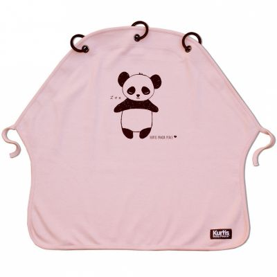 Protection pour poussette Baby Peace coton bio Panda rose  par Kurtis
