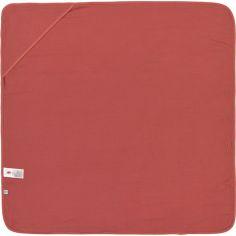 Cape de bain en mousseline de coton bois de rose (90 x 90 cm)