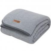 Couverture de lit pure & soft Grey melange (110 x 140 cm) - Little Dutch