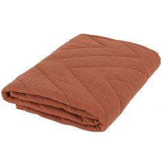 Couverture en coton Bliss Rust (75 x 100 cm)