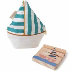 Puzzle baguettes en bois Transports (5 pièces)