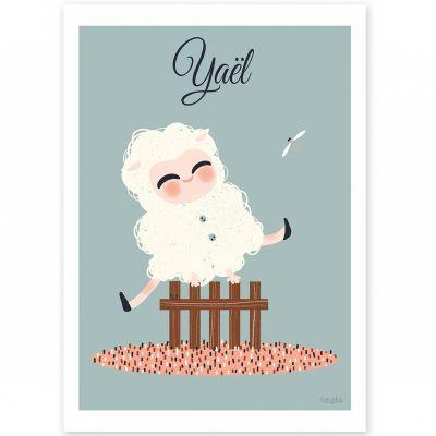 Affiche A3 Les adorables costumés Le mouton (personnalisable)  par Kanzilue