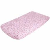 Drap housse fleurs Pink blossom (60 x 120 cm) - Little Dutch