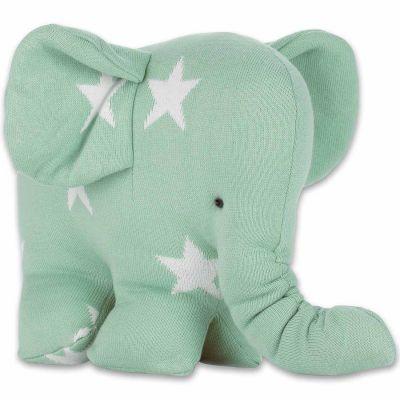 Peluche Eléphantou Star vert menthe et blanc (30 cm) Baby's Only