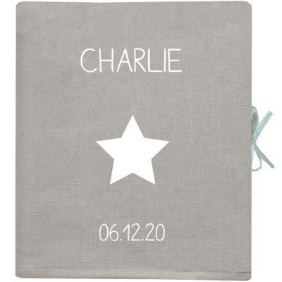 Album photo bébé gris béton (personnalisable)  par Les Griottes