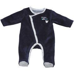 Pyjama chaud Mister Bouh bleu marine (1 mois)