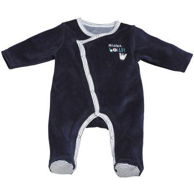 Pyjama chaud Mister Bouh bleu marine (1 mois)  par Sauthon