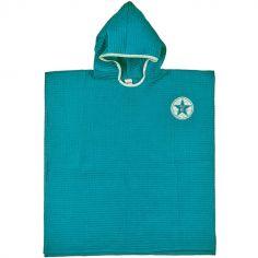 Poncho de bain P'tit mec bleu paon (3-5 ans)