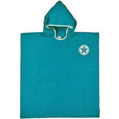 Poncho de bain P'tit mec bleu paon (3-5 ans)  par BB & Co