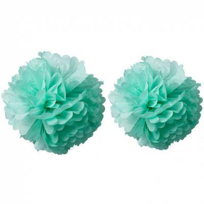 Pompons papier de soie vert menthe (2 pièces)  par Arty Fêtes Factory