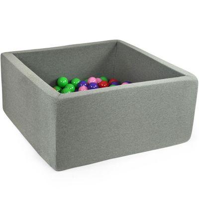 Piscine à balles carrée gris foncé personnalisable (90 x 90 x 40 cm)