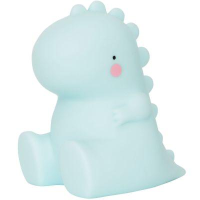 Petite veilleuse dinosaure bleu (12 cm)  par A Little Lovely Company