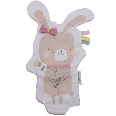 Doudou plat lapin câlin Adventure pink  par Little Dutch