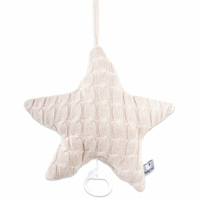 Coussin musical étoile Cable Uni beige (30 cm) Baby's Only