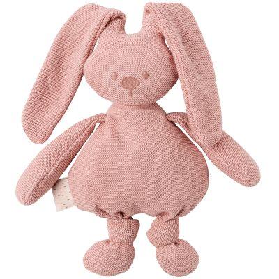 Peluche en tricot lapin rose Lapidou (36 cm)  par Nattou