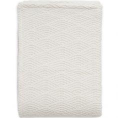 Couverture en tricot crème blanc (75 x 100 cm)