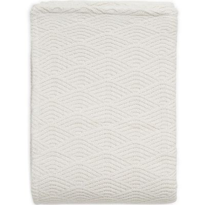 Couverture en tricot crème blanc (75 x 100 cm)  par Jollein