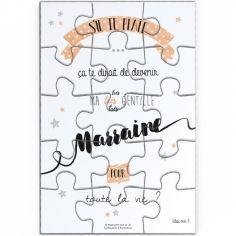 Puzzle de demande de marraine (10 x 15 cm)