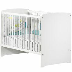 Pack duo lit bébé têtes panneaux et tiroir New Basic blanc (60 x 120 cm)