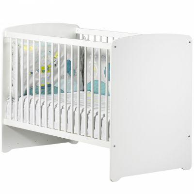 Pack duo lit bébé têtes panneaux et tiroir New Basic blanc (60 x 120 cm) Baby Price