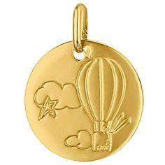 Médaille ronde Montgolfière 16 mm (or jaune 750°)
