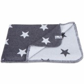 Couverture Star gris anthracite et gris (70 x 95 cm) - Baby's Only