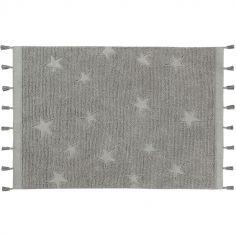 Tapis Hippy Stars gris (120 x 175 cm)