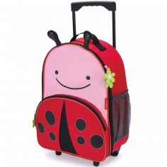 Valise trolley Zoo coccinelle rouge