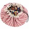Sac à jouets 2 en 1 rose et blanc Diamond rose - Play&Go