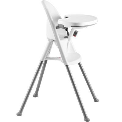 Chaise haute blanche et grise  par BabyBjörn