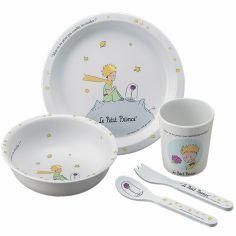 Coffret repas Le Petit Prince blanc (5 pièces)