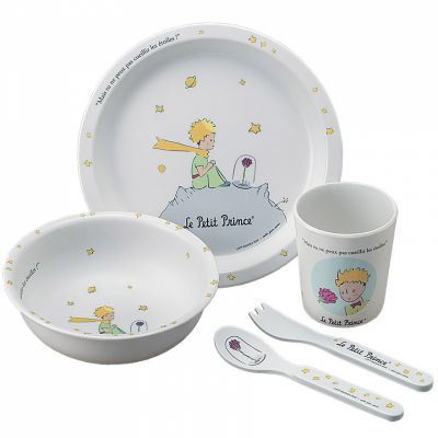 Coffret repas Le Petit Prince blanc (5 pièces) Petit Jour Paris