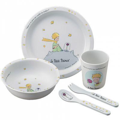 Coffret repas Le Petit Prince blanc (5 pièces)  par Petit Jour Paris