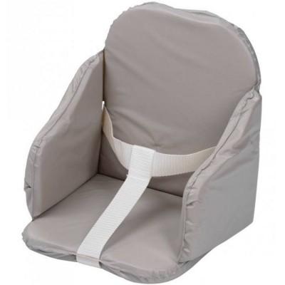 Coussin de chaise à sangles gris  par Tinéo