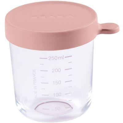 Pot de conservation Portion en verre rose (250 ml)  par Béaba