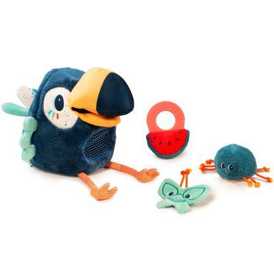 Peluche d'activités Pablo le toucan pique-assiette  par Lilliputiens
