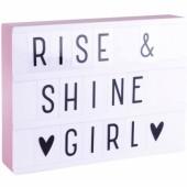 Boîte lumineuse Lightbox A4 rose - A Little Lovely Company
