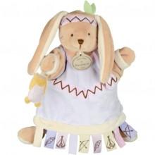 Doudou marionnette étiquette lapin (23 cm)  par Doudou et Compagnie