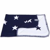 Couverture Star bleu marine et blanc (140 x 200 cm) - Baby's Only