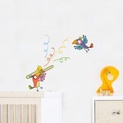 Stickers muraux Perroquet trompette  par Série-Golo
