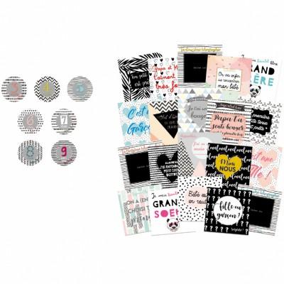 Kit souvenirs de grossesse 9 mois avec toi  par BB & Co