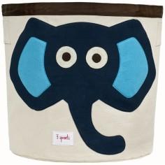 Sac à jouets Eléphant bleu