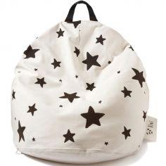 Pouf géant étoiles (80 x 110 cm)