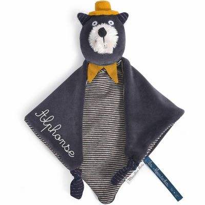 Doudou chat Alphonse Les Moustaches (personnalisable)  par Moulin Roty