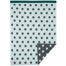 Couverture bébé en coton bio Little Chums étoiles vert d'eau (75 x 100 cm)  par Lässig